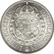 1 Krona - Gustaf V -  reverse
