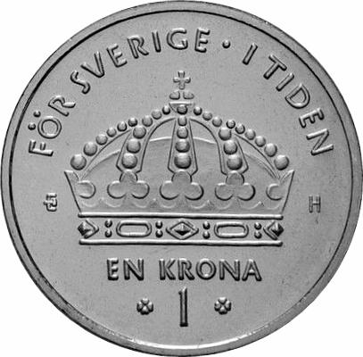 1 Krona Carl Xvi Gustaf Sweden Numista