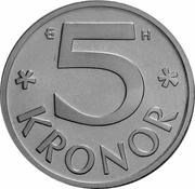 5 Kronor - Carl XVI Gustaf -  reverse