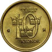 10 Kronor - Carl XVI Gustaf -  reverse