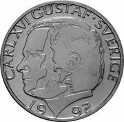 1 Krona - Carl XVI Gustaf -  obverse