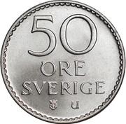 50 Öre - Gustaf VI Adolf -  reverse