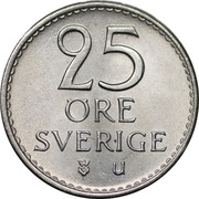 25 Öre - Gustaf VI Adolf -  reverse