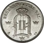 25 Öre - Oscar II (large letters) -  obverse