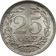 25 Öre - Oscar II (large letters) -  reverse
