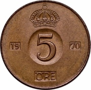 5 Öre - Gustaf VI Adolf -  reverse