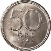 50 Öre - Gustaf V -  reverse