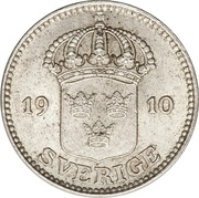25 Öre - Gustaf V -  obverse