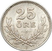 25 Öre - Gustaf V -  reverse