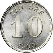 10 Öre - Oscar II -  reverse