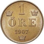 1 Öre - Oscar II – reverse