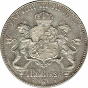 4 Riksdaler Riksmynt - Carl XV – reverse