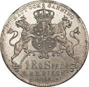1 Riksdaler Specie / 4 Riksdaler Riksmynt - Oscar I (long goatee) – reverse