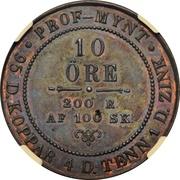 10 Öre - Oscar I (Pattern Strike, Type I) – reverse