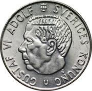 1 Krona - Gustaf VI Adolf – obverse
