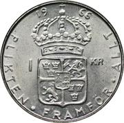 1 Krona - Gustaf VI Adolf – reverse