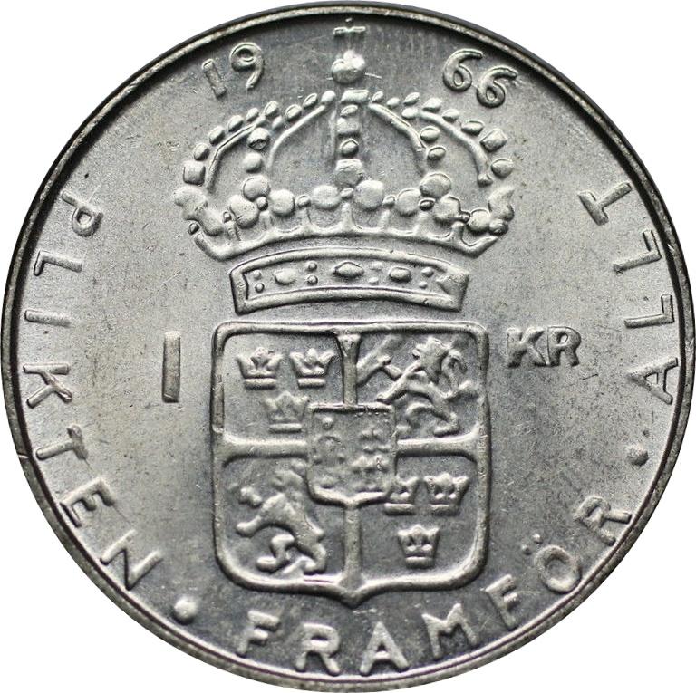 1 Krona - Gustaf VI Adolf - Sweden – Numista