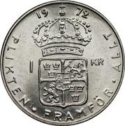 1 Krona - Gustaf VI Adolf -  reverse