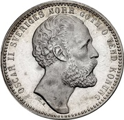 1 Riksdaler Riksmynt - Oscar II – obverse