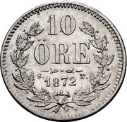 10 Öre - Oscar II – reverse