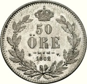 50 Öre - Carl XV – reverse