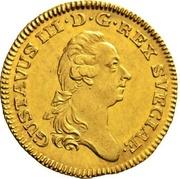 1 Dukat - Gustav III – obverse