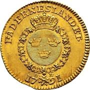 1 Dukat - Gustav III – reverse