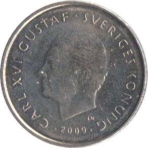 1 Krona Carl Xvi Gustaf Separation From Finland Sweden Numista