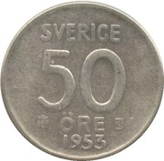 50 Öre - Gustaf VI Adolf – reverse