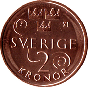 2 Kronor - Carl XVI Gustaf -  reverse