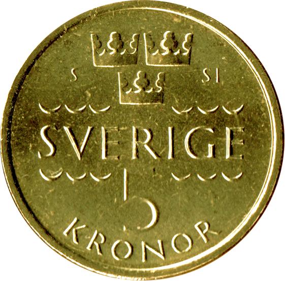 5 Kronor Carl Xvi Gustaf