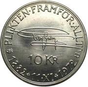 10 Kronor - Gustaf VI Adolf (Birthday) – reverse