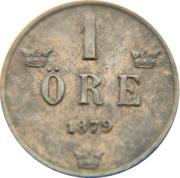 1 Öre - Oscar II (large letters) – reverse