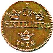 1/12 Skilling - Carl XIII – reverse
