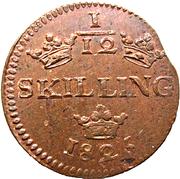 1/12 Skilling - Carl XIV Johan – reverse