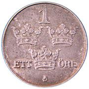 1 Öre - Gustaf V – reverse