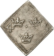 "4 Mark ""Klippingar""- Regency of Johan III & Karl IX – reverse"