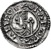 1 Denar - Olof Skötkonung (Sigtuna; struck by Leofman) – obverse