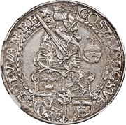 1 Daler - Gustav Vasa (Svartsjö mint) – obverse