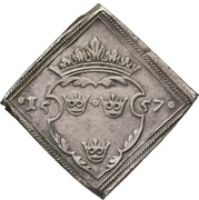 "16 Öre ""Klippingar"" - Gustav Vasa (Type II; Åbo mint) – reverse"