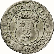 ½ Mark - Gustav Vasa (Stockholm mint; bust type Ib) – reverse