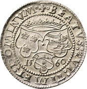 1 Mark - Gustav Vasa (Stockholm mint; bust type IV) – reverse