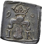 """½ Mark/4 Öre """"Klippingar"""" - Johan III  (Type II) – obverse"""