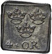 """½ Mark/4 Öre """"Klippingar"""" - Johan III  (Type II) – reverse"""