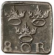 """1 Mark/8 Öre """"Klippingar"""" - Johan III (Type II) – reverse"""