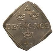 """1 Mark """"Klippingar"""" - Johan III (Type I) – obverse"""