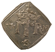 "1 Mark ""Klippingar"" - Johan III (Type I) – reverse"