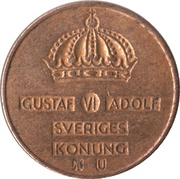 1 Öre - Gustaf VI Adolf – obverse