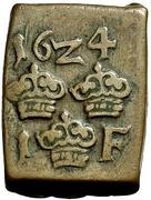 """1 Fyrk """"Klippingar"""" - Gustav II Adolf (Säter mint) – reverse"""
