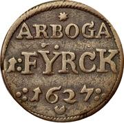 1 Fyrk - Gustav II Adolf (Arboga mint) – reverse
